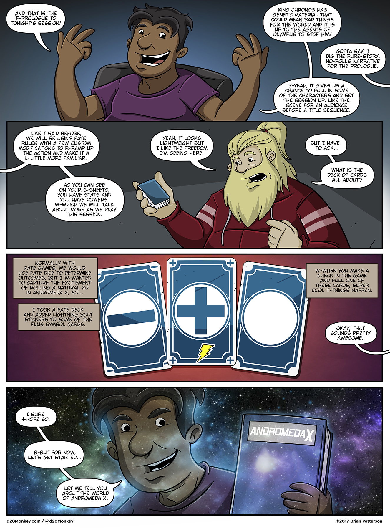 I did that last panel with the space effects just because I want to.