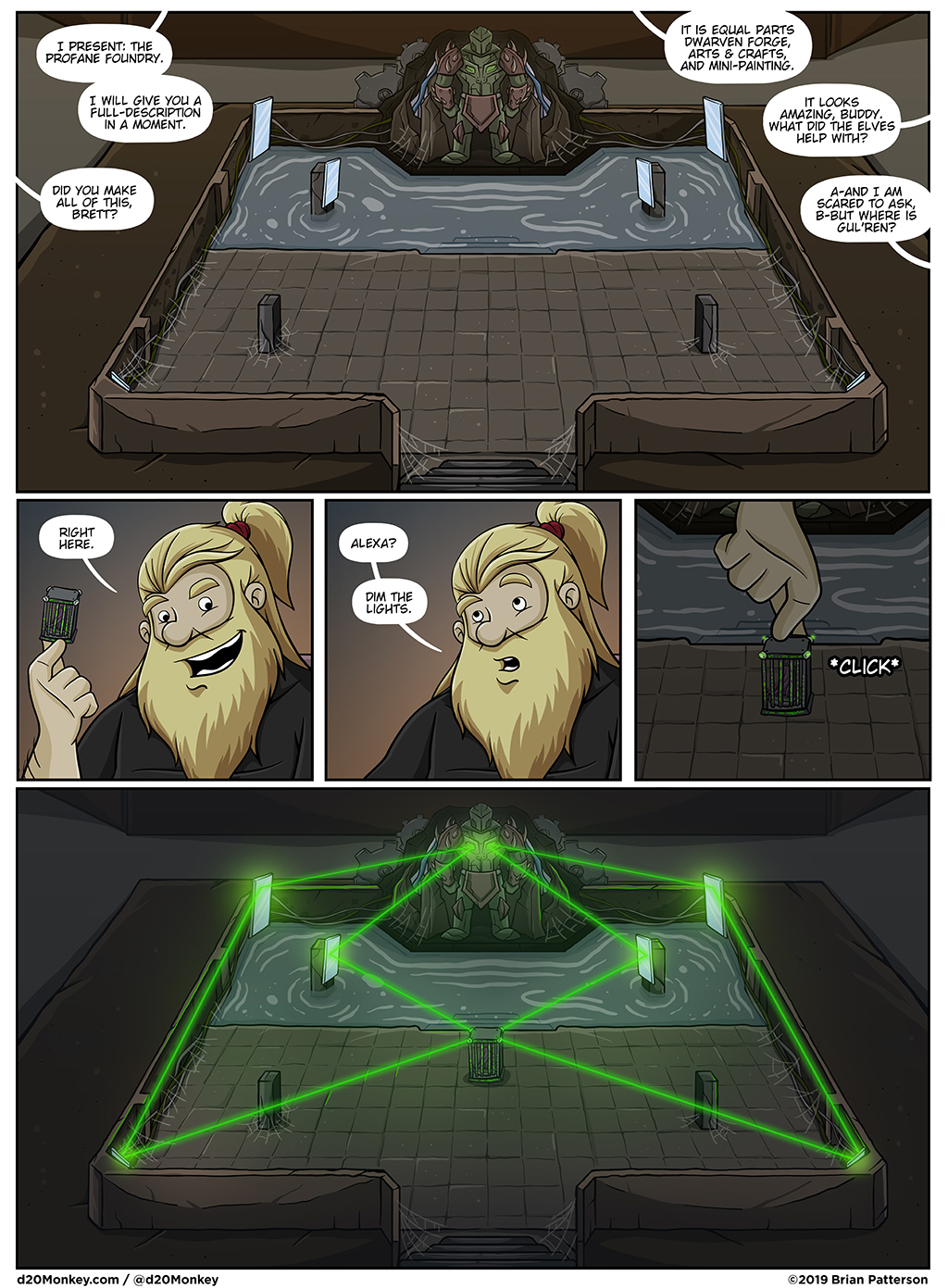 Make the lightsaber sound in the last panel. It really makes it.