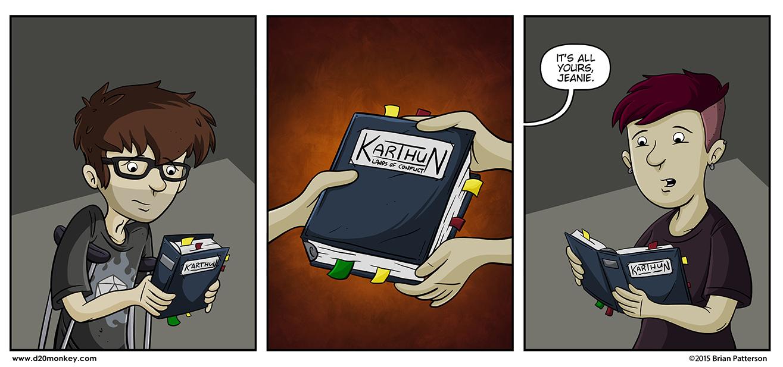 Sam's binder is based on my original Karthun setting binder.